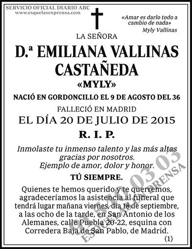 Emiliana Vallinas Castañeda